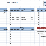 Class Schedule Template – 5 Free Templates