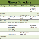 Fitness Schedule Template – 7 Free Templates
