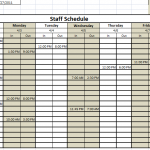 6 Free Staff Schedule Template ( MS Excel)