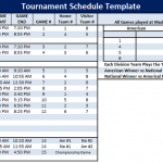 Tournament Schedule Template