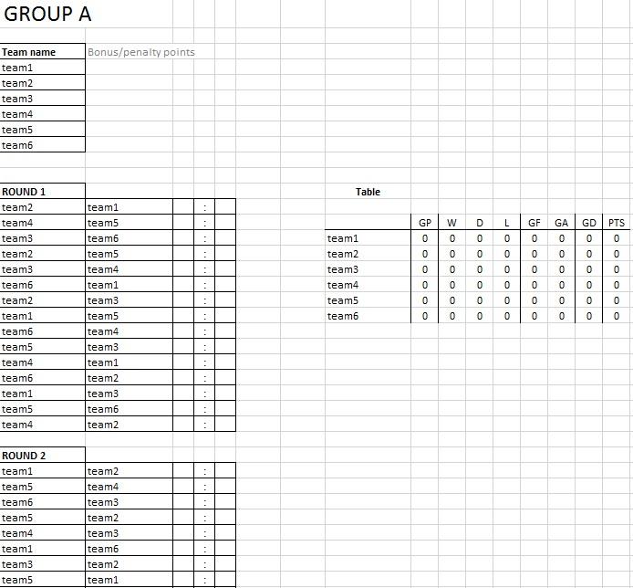 schedule generator sports