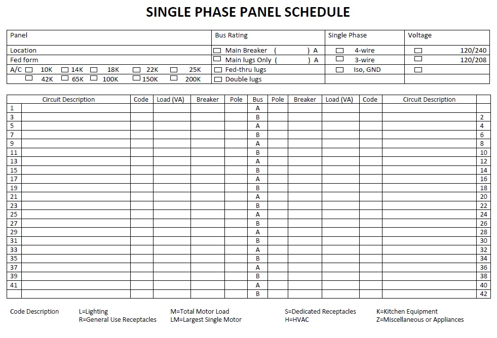 electric panel schedule template panel schedule template schedule template free electrical. Black Bedroom Furniture Sets. Home Design Ideas