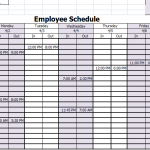 15 Free Employee Work Schedule Templates