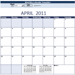 Monthly Calendar Schedule Template – 9 Free Templates