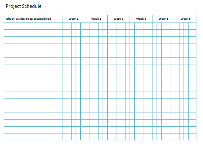 Project Schedule Template  Project Timetable Template