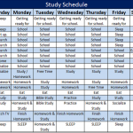 Study Schedule Template – 5 Free Templates