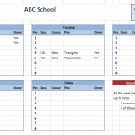 Teacher Schedule Template – 5 Free Templates (MS Word & PDF)