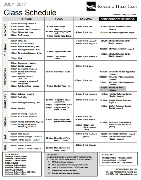 Course Schedule Template – 10 Free Templates | Schedule Templates