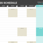 School Schedule Template – 9 Free Templates