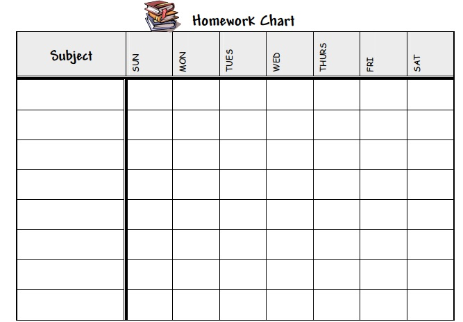 Free Homework Schedule Template Ms Word And Ms Excel  Schedule