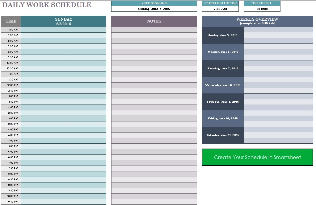 Office Routine Schedule Template   Free Templates  Schedule
