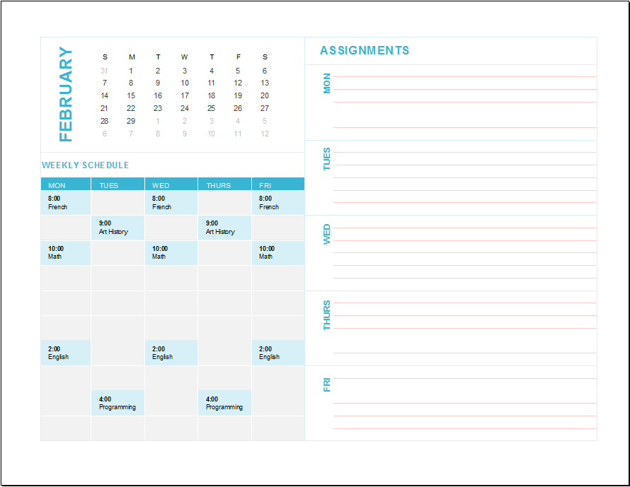 weekly schedule template 03