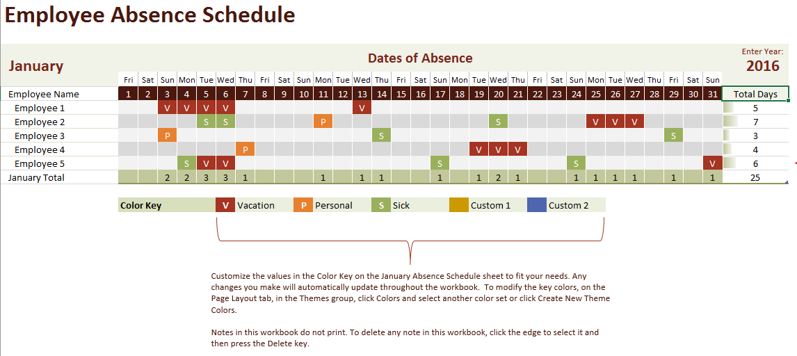 Employee-Vacation-Absence-Schedule-Template