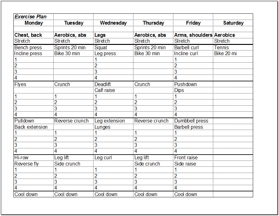 Monday To Sunday Schedule Template Blank Calendar Sunday Through – Monday to Sunday Schedule Template