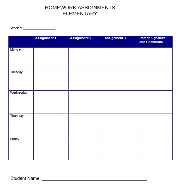 Study Schedule Template 5 Free Templates Schedule Templates