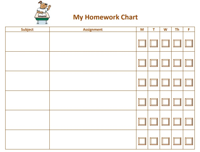 11 free homework schedule template  ms word and ms excel