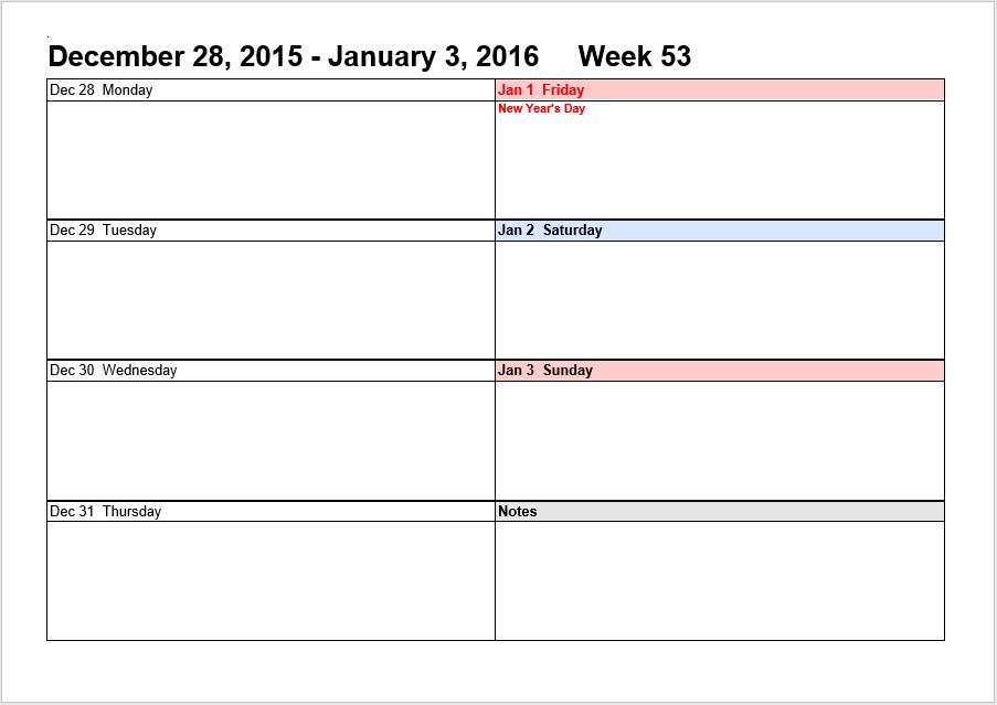 weekly schedule word template 02