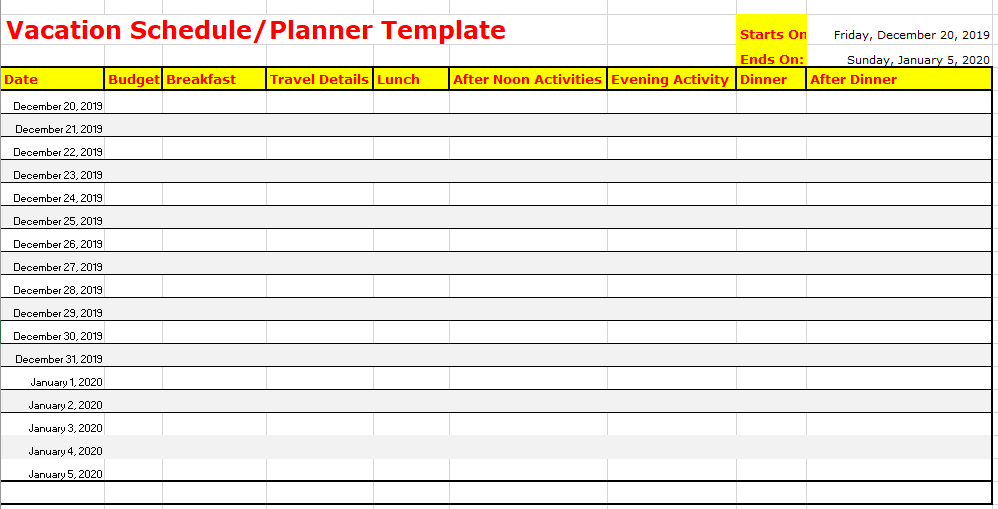 Scheduling Sheet Template from www.scheduletemplate.org
