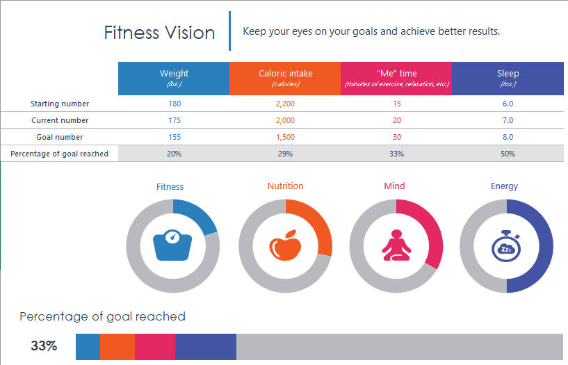 Fitness Goals Schedule Template