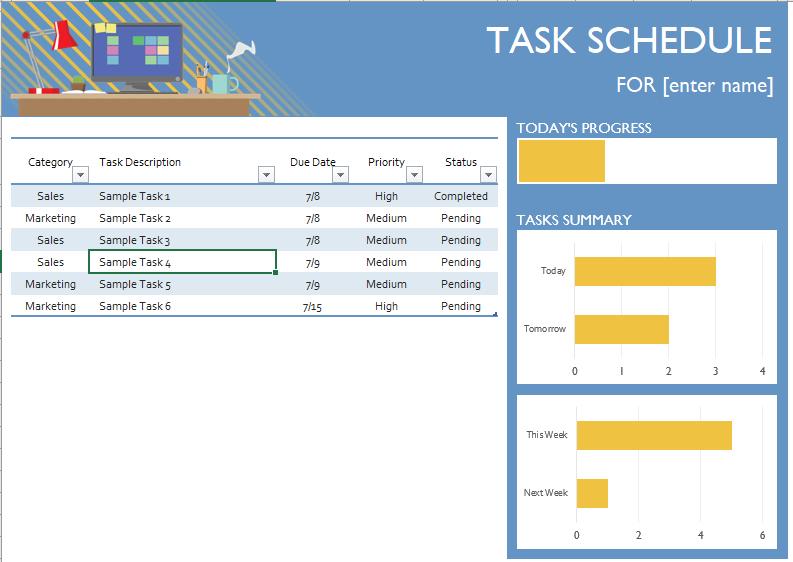 Task Schedule Template